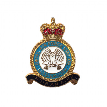 Royal Air Force RAF Station Lossiemouth Lapel Badge